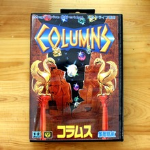 Columns 16 Bit MD Game Card with Retail Box for Sega MegaDrive & Genesis Video Game console system