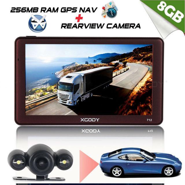 """Xgody 7 """"Navegación del Gps del coche Navegación Para Camiones Europa 7 Pulgadas Gps Navegador de Coche Bluetooth Retrovisor Cámara Rusia Navitel Mapas"""