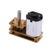 цена на DC6V 100RPM Micro Electric Geared Motor Speed Reduction Geared Box Metal High Quality