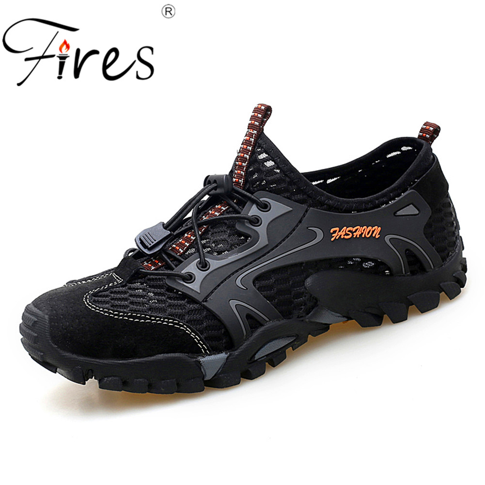 Fires Man Hiking Shoes Outdoor Sneakers Breathable Men's Sports Climbing Shoes For Men Sandals Summer Trekking Water Shoes humtto men s summer sports outdoor trekking hiking sandals shoes for men sport climbing mountain shoes man sandals