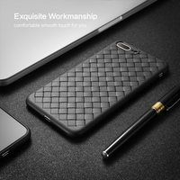 FLOVEME-Super-Soft-Phone-Case-For-iPhone-8-Luxury-Grid-Weaving-Cases-For-iPhone-6-6s-7-8-Plus-X-Cover-Silicone-Accessories-Black-4