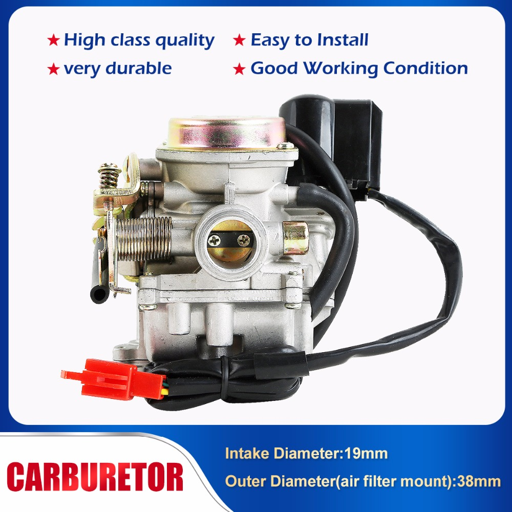 Motorcycle Scooter Carb <font><b>Carburetor</b></font> For <font><b>50cc</b></font> Chinese <font><b>GY6</b></font> 139QMB Moped 49cc 60cc SUNL BAJA image