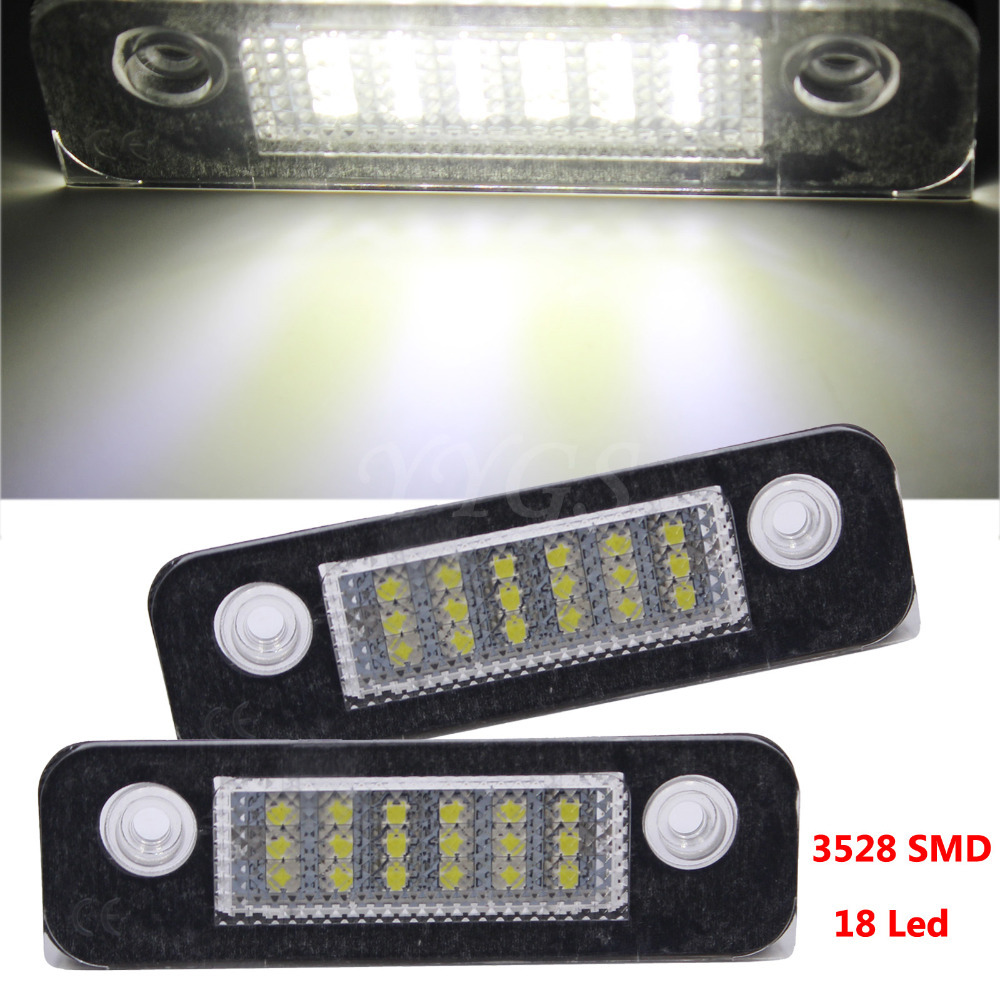 2x 18SMD LED Number License Plate Light Lamp For Ford Mondeo Mk2 / Fiesta Mk5 Mk6 Facelift / Fusion mini MPV 1pair license number plate light 18led lamps replace for ford mondeo focus 5d canbus d2tb
