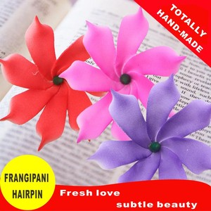 Image 5 - 50 Easter decoration New Fashion Foam Hawaiian  Artificial flowers girls hairpins barrette bride women hair accessories