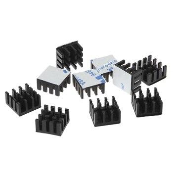 10pcs Computer Cooler Radiator Aluminum Heatsink Heat sink for Electronic Chip Heat dissipation Cooling Pads 14*14*8mm-U1JA 2pcs younuon black 14 14 6mm computer radiator aluminum heatsink heat sink for electronic chip heat dissipation cooling pads