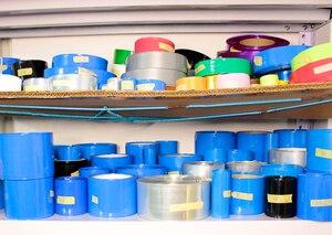 Image 3 - 1kg 30MM de ancho azul batería de litio manguito PVC Termocontraíble batería DIY Paquete de reemplazo de piel película aislante