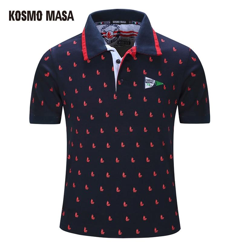 KOSMO MASA 2018 Cotton Casual   Polo   For Men Summer Short Sleeve Anime Shirt Men's Jersey Camisas Big Size   Polo   Shirts PS0025