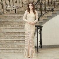 Кафтан Дубай Роскошный Кристалл Русалка халат De Soiree великолепный алмаз одежда с длинным рукавом Формальное вечернее платье для выпускного