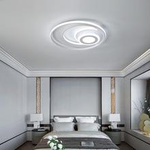Nouveau plafond moderne à LEDs rond lumières pour salon lit chambre lumière éclairage à la maison blanc en aluminium haute luminosité plafonnier