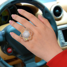 SISCATHY Hot Noble Luxury Round Flower Rings for Women Romantic Anniversary Party Bridal Wedding Jewelry Accessories