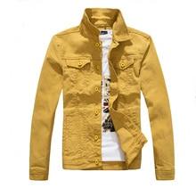 Новый Для мужчин Модная Джинсовая куртка много Цвета мужской уличной Повседневное джинсовая куртка, пальто Для мужчин бренд пальто жира тонкая одежда M-4XL AYX05