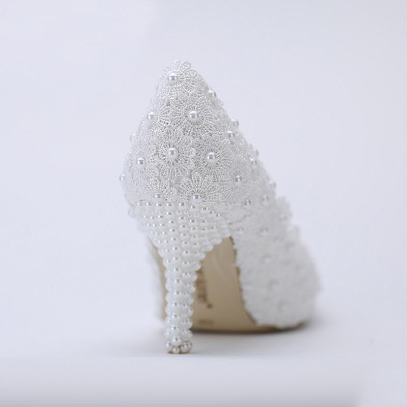 Сән Sexy White Lace Flower ақ қылқалам ілмекпен - Әйелдер аяқ-киімі - фото 4
