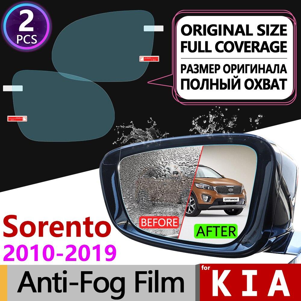 For Kia Sorento 2010~2019 XM UM Full Cover Anti Fog Film Rearview Mirror Rainproof Accessories Prime R 2013 2014 2015 2016 2017