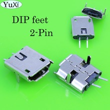 YuXi 15pcs/lot 2-Pin mini Micro USB 2pin B type Female Connector For Mobile Phone Micro USB Jack Connector Charging Socket lemo 1p series 2pin connector pab plb 60 degrees dual positioning pins medical connector 2 pin oximetry sensor connector