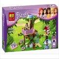 BELA Amigos Niñas 10158 Olivia Tree House Building Blocks 191 unids/set Ensamblar Ladrillos juguetes Compatible amigos