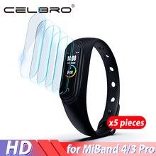 Pour Mi Band 4 Film protecteur décran pour Xiaomi MiBand 4 3 Pro Film Hydrogel sur pour Mi Band4 MiBand4 Film protecteur Film protecteur 9H