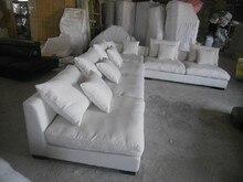 8611 Tela del sofá de la sala muebles sofá conjuntos de muebles para el hogar sofá seccional establece pluma de color blanco interior