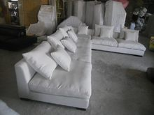 8611 Fabric sofa set living room furniture sofa sets home furniture sectional sofa sets white color feather inside(China)