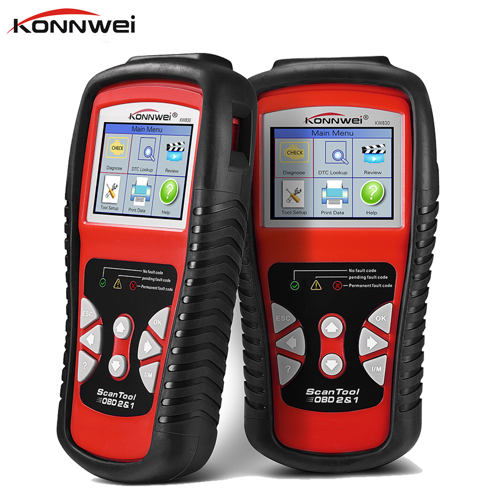 Original Car Diagnostic Tool OBD2 Automotive Scanner KW830 OBD 2 EOBD Better Than ELM327 Engine Fault Code Reader Scanner Tools картридж cactus cs c9426 85 для hp dj 30 130 пурпурный 29мл