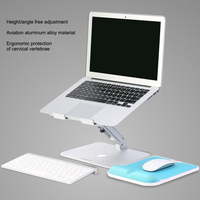 Adjustable Laptop Cooling Holder Portable Aluminum Laptop Stand Desktop Ergonomics Heighten for MacBook Air Pro Accessory