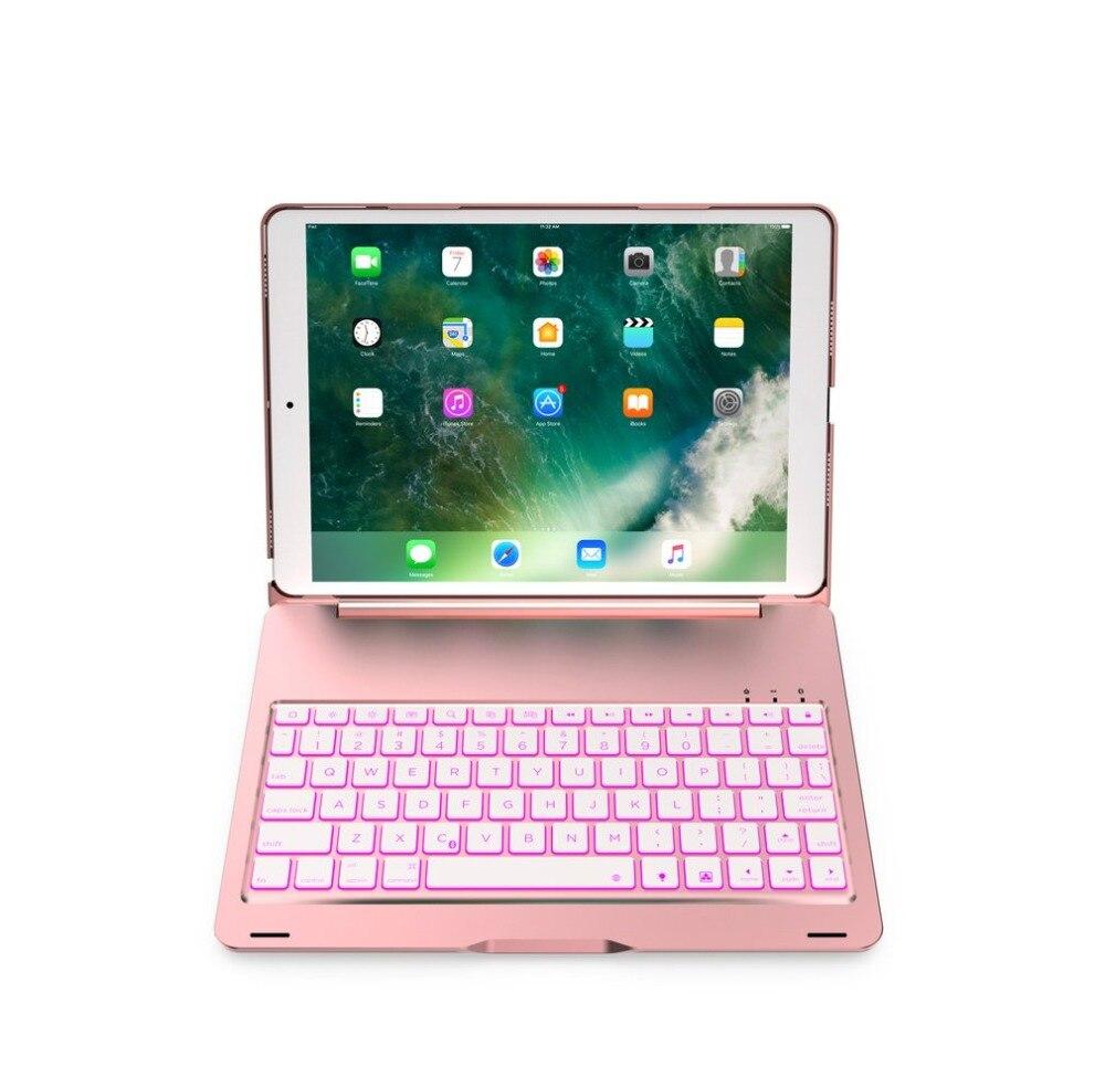 Clavier Bluetooth sans fil rétro-éclairé clavier intelligent en Aluminium étui pour ipad Pro 10.5 touche en alliage de tablette