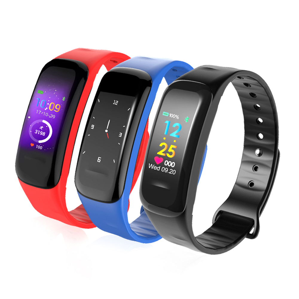 Fashion c1plus color screen smart bracelet heart rate monitoring step counter anti-watercolor screen sports bracelet