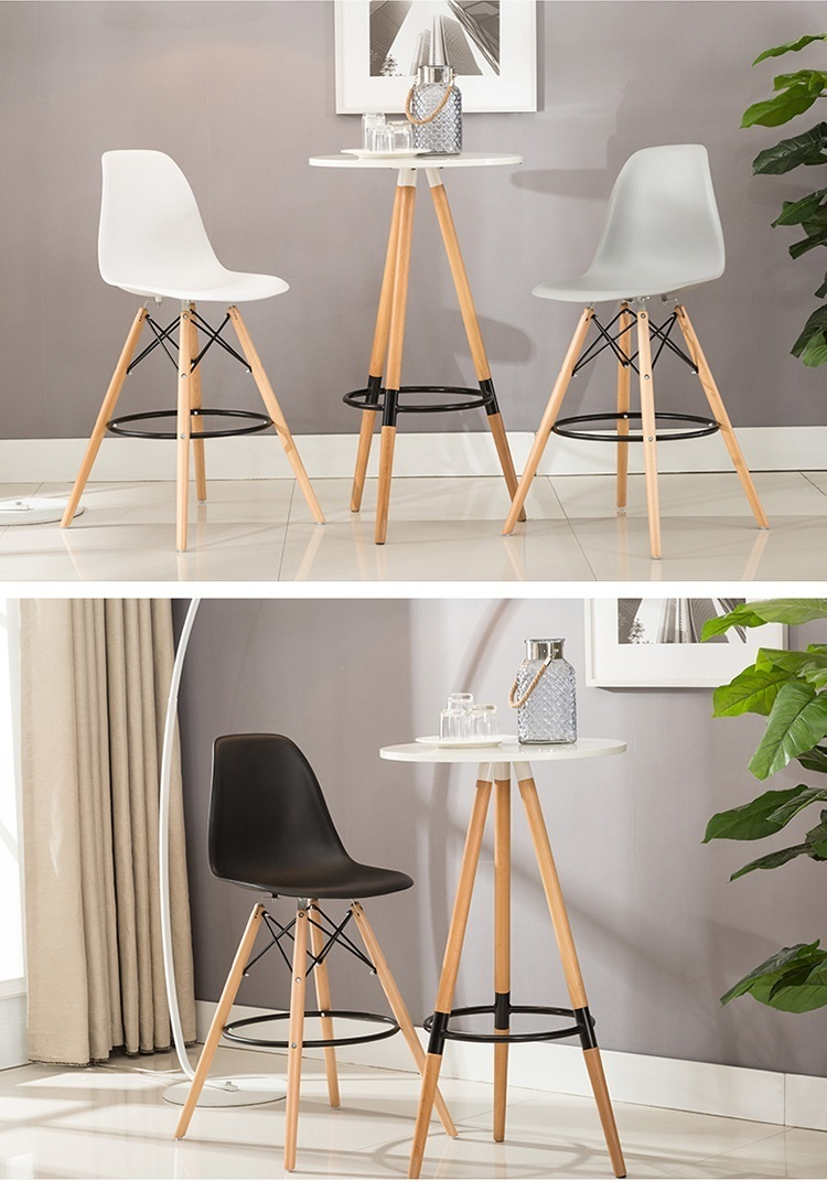 Commercial office building stool meeting room stool office furniture plastic seat gray black color chair enterprise office meeting room chair reception room plastic seat wood leg stool free shipping