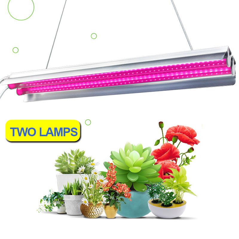 Grow Tent Light 60W Led Grow Light Strip Lamp For Plants Fitolampy Phyto Lamp Two Tube Lights Full Spectrum Growth Lamp Flowers