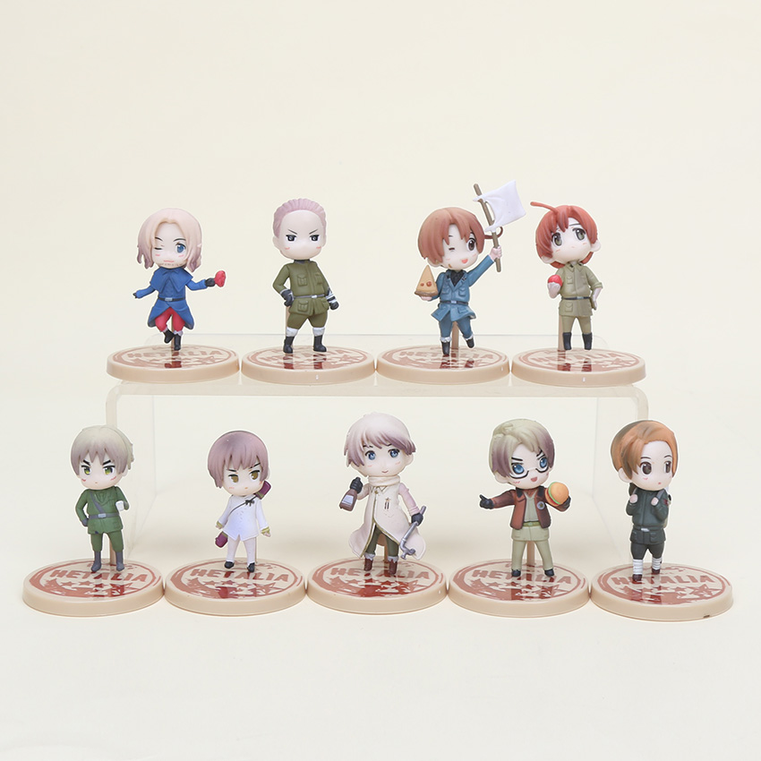 9pcs/set Anime Axis Powers hetalia figures cosplay Keychain pendant pvc action figure collectible model toys brinquedos 9pcs set chi s sweet home cat cats figures animal decoration action figures collection model toys 3 4cm