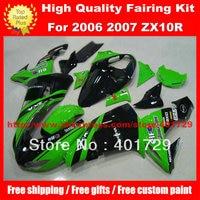 Free custom paint fairing set for Ninja ZX 10R 2006 2007 ZX10 06 07 ZX10R 06 07 high grade racing fairing kit