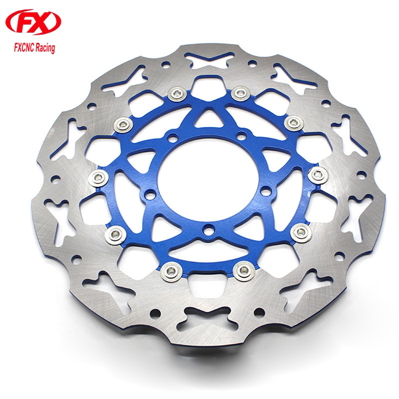 320mm Float Floating Motorcycle Front Brake Disc Disks Rotor Motorbike Brake Disk For Yamaha FZ16 All Years Motor Part FXCNC sintered copper motorcycle parts motorbike front