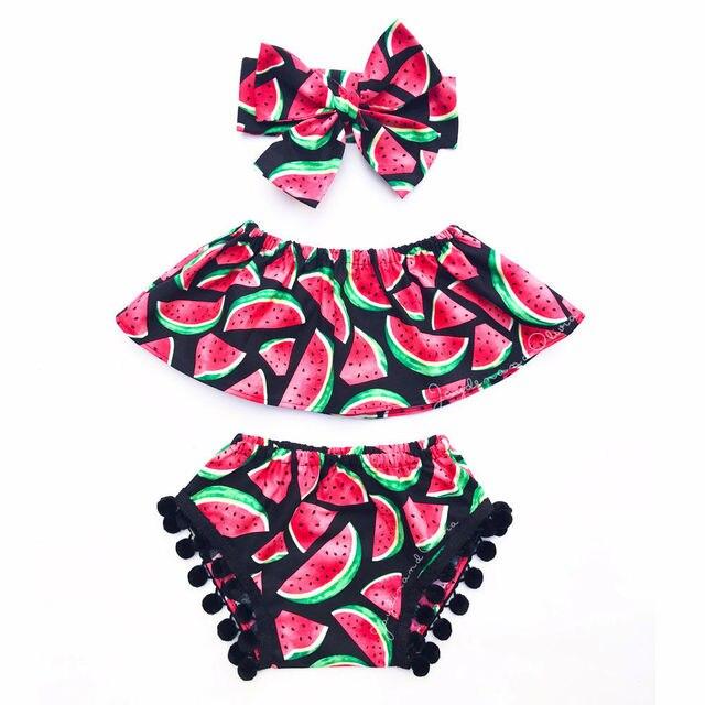 3 Stücke Kleinkind Kleinkind Kinder Kinder Baby Mädchen Wassermelone ...