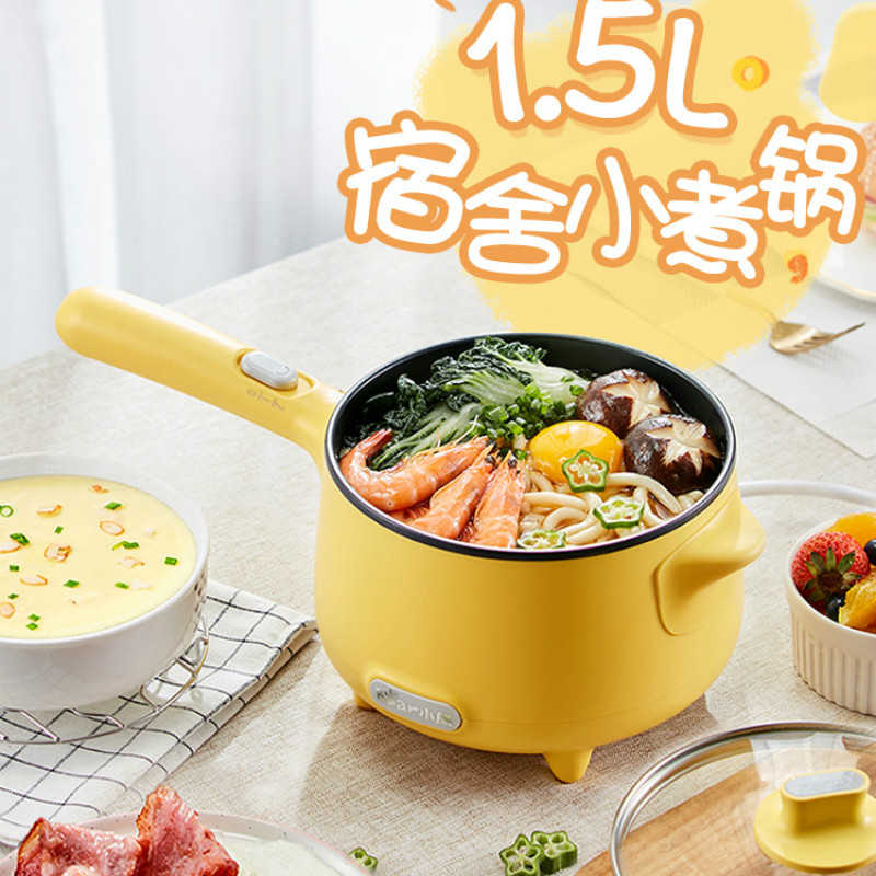 Portable Electric Multi Cooker Mini Fry Pan Noodle Cooker Pot Hotpot Hot Pot Multicooker Kitchen Appliance Waffle Maker