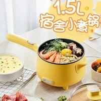 Portable Electric Multi Cooker Mini Fry Pan Noodle Cooker Pot Hotpot Hot Pot Multicooker Kitchen Appliance Waffle Maker