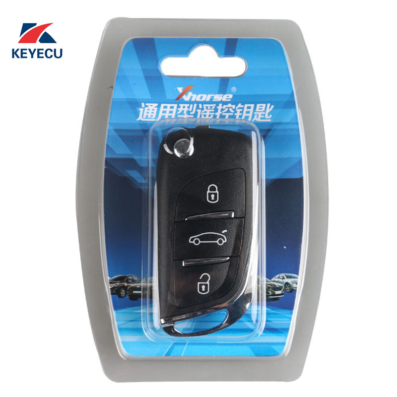 XHORSE Wireless for DS Style English Version Universal Remote Key Fob 3 Button for VVDI Key