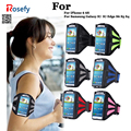 Gym workout correr deporte arm band case para samsung galaxy s7 g9300 borde s6 s7 s5 s4 para iphone 6 6 s impermeable correa del teléfono cubierta