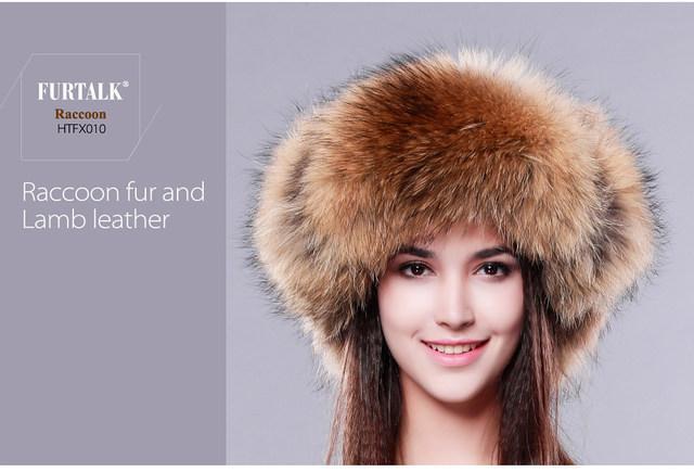 0a6908800a3c1 Furtalk Men s Vintage Leather Fox Fur Dad Hat Aviator Hat Russian Fur Hat  Ushanka Trooper Hat for Men 2019 Warm Winter Fur CapUSD 45.50 piece