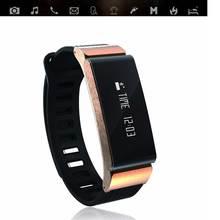 2016 New Smart Sport bracelet Fitness Tracker Watch Remote Control Camera Smart Bracelet Health Sleep Tracker Watch Gold W6
