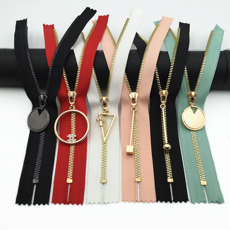 10pcs Metal Zipper Zip Closed-end Sewing DIY Craft Bag Purse Handwork 15//20cm