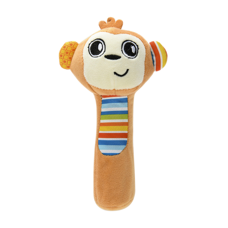 Hot Baby Rattle Hand Grabbing Puzzle Plush Cloth BB Stick Baby Grip Toy