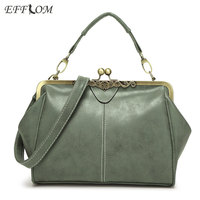 Famous Brand Womens Bag Vintage Nubuck Leather Handbags Shell Ladies Clutch Designer Crossbody Bag Suede Sac
