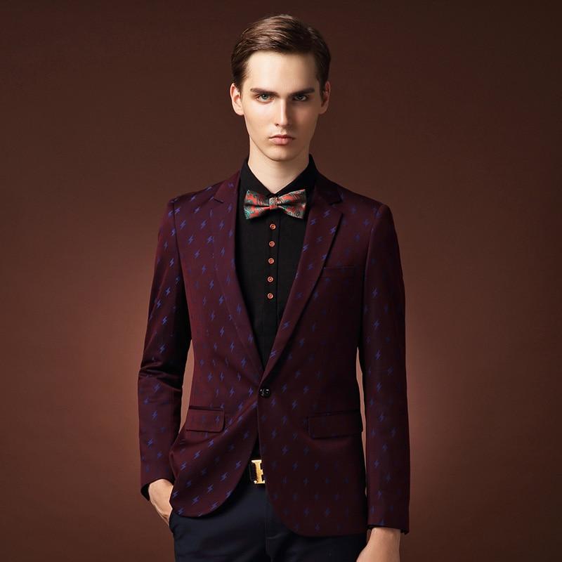 Burgundy Blazer For Men - Hazmat Clothing