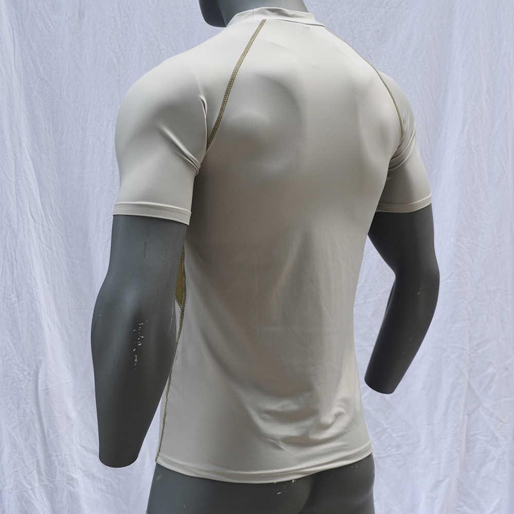 عالية الجودة الرجال طفح الحرس قصيرة الأكمام تصفح قمصان UPF50 ملابس السباحة 2019 السباحة أعلى UV-حماية تشغيل قميص