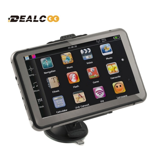 Dealcoo New 7 inch HD GPS Navigation 800M/ FM/8GB/DDR3 Slim 2016 Maps For Russia/Belarus/Kazakhstan Europe/USA+Canada TRUCK Navi