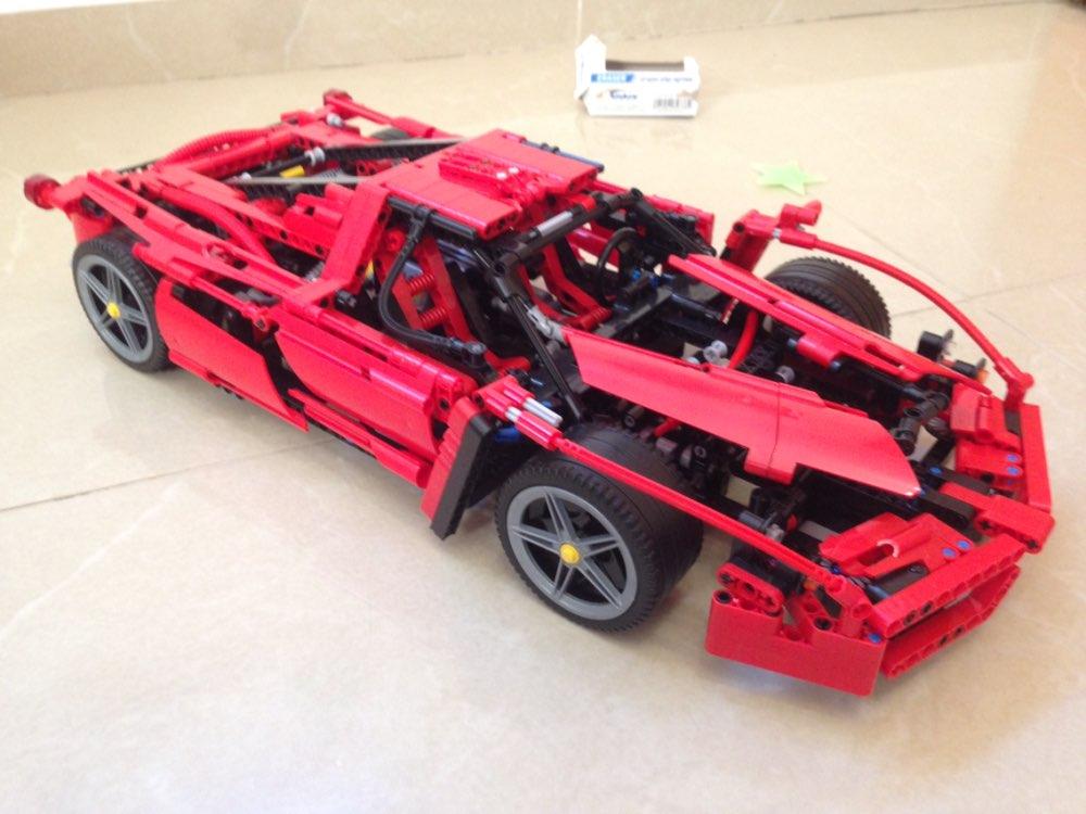 1359 PCS New Technic ENZO 1:10 Supercar Bilmodell Byggblock Utbildningsbyggnadsstenar som är kompatibla med DIY