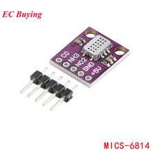 MICS 6814 módulo de sensor gás da qualidade do ar detecção gás monóxido carbono co/dióxido nitrogênio no2/amônia nh3 sensor para arduino