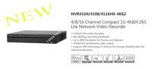 Free Shipping DAHUA 4/8/16 Channel Compact 1U 4K&H.265 Lite NVR without Logo NVR4104HS-4KS2/NVR4108HS-4KS2/NVR4116HS-4KS2