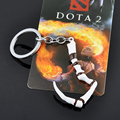 Game Defense Of The Ancients Dota2 Pudge Inscribed Dragonclaw Hook Keychains Men Jewelry Accessorie with Retail Package Cosplay