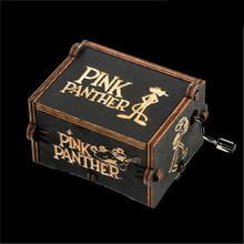 Antique Carved Music Box Pink Panther Music Box Game of Throne Wooden Hand Crank Theme Music antique carved wood star wars game of thrones music box hand crank theme music welcome to sell friends cooperation