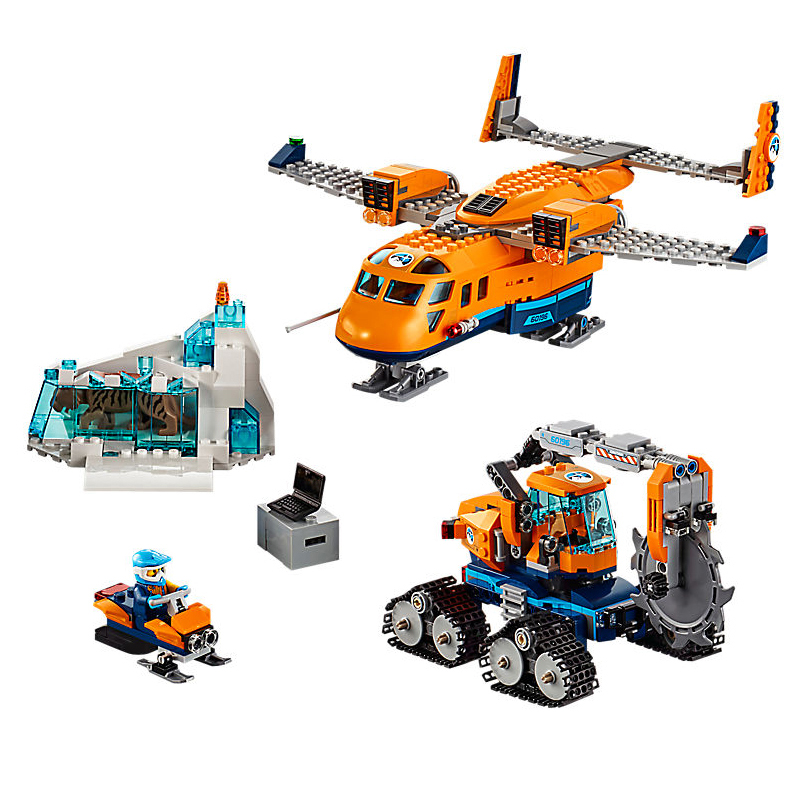 New City Series the Arctic Supply Plane Set 60196 Building Blocks Bricks Legoinglys Toys Model Boy Christmas Gifts